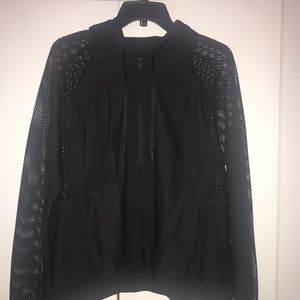 lululemon black mesh on mesh jacket size 8